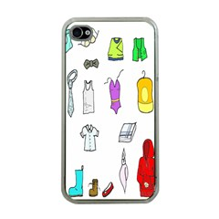 Clothing Boots Shoes Shorts Scarf Apple Iphone 4 Case (clear) by Nexatart
