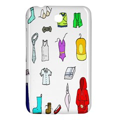 Clothing Boots Shoes Shorts Scarf Samsung Galaxy Tab 3 (7 ) P3200 Hardshell Case