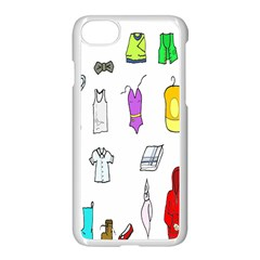 Clothing Boots Shoes Shorts Scarf Apple Iphone 7 Seamless Case (white) by Nexatart