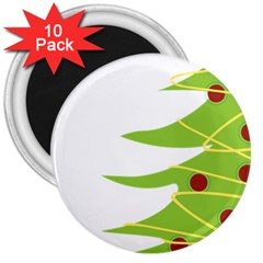 Christmas Tree Christmas 3  Magnets (10 Pack)  by Nexatart