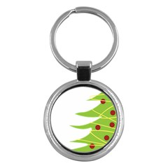 Christmas Tree Christmas Key Chains (round)  by Nexatart