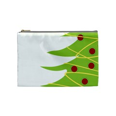 Christmas Tree Christmas Cosmetic Bag (medium)  by Nexatart