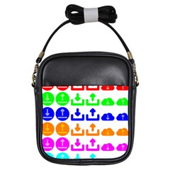 Download Upload Web Icon Internet Girls Sling Bags by Nexatart