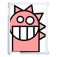 Dragon Head Pink Childish Cartoon Apple Ipad 2 Case (white) by Nexatart