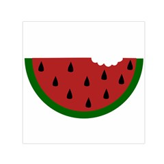 Food Slice Fruit Bitten Watermelon Small Satin Scarf (square) by Nexatart