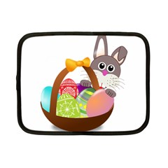 Easter Bunny Eggs Nest Basket Netbook Case (small)  by Nexatart