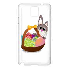 Easter Bunny Eggs Nest Basket Samsung Galaxy Note 3 N9005 Case (white) by Nexatart
