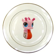Dragon Toy Pink Plaything Creature Porcelain Plates