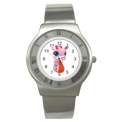 Dragon Toy Pink Plaything Creature Stainless Steel Watch