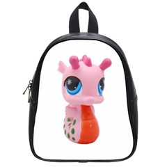 Dragon Toy Pink Plaything Creature School Bags (small)  by Nexatart