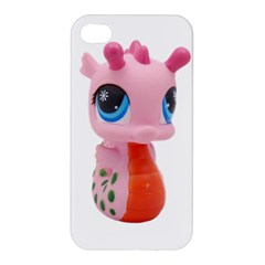 Dragon Toy Pink Plaything Creature Apple Iphone 4/4s Premium Hardshell Case by Nexatart