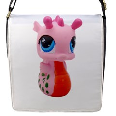 Dragon Toy Pink Plaything Creature Flap Messenger Bag (s) by Nexatart
