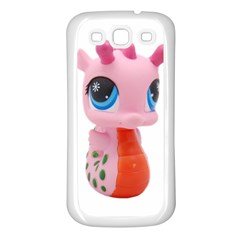 Dragon Toy Pink Plaything Creature Samsung Galaxy S3 Back Case (white) by Nexatart