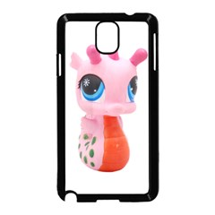 Dragon Toy Pink Plaything Creature Samsung Galaxy Note 3 Neo Hardshell Case (black) by Nexatart