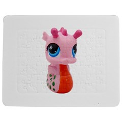 Dragon Toy Pink Plaything Creature Jigsaw Puzzle Photo Stand (rectangular) by Nexatart