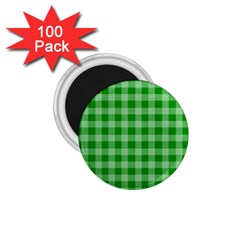 Gingham Background Fabric Texture 1 75  Magnets (100 Pack)