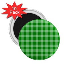 Gingham Background Fabric Texture 2 25  Magnets (10 Pack)