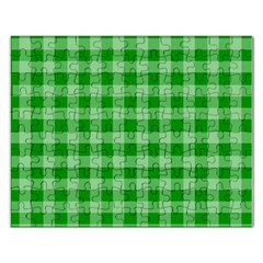 Gingham Background Fabric Texture Rectangular Jigsaw Puzzl