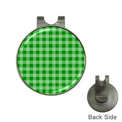 Gingham Background Fabric Texture Hat Clips With Golf Markers