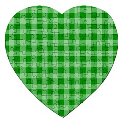 Gingham Background Fabric Texture Jigsaw Puzzle (heart)