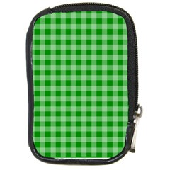 Gingham Background Fabric Texture Compact Camera Cases by Nexatart