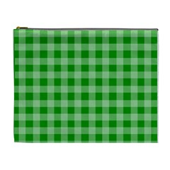 Gingham Background Fabric Texture Cosmetic Bag (xl) by Nexatart