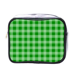 Gingham Background Fabric Texture Mini Toiletries Bags
