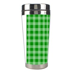Gingham Background Fabric Texture Stainless Steel Travel Tumblers by Nexatart