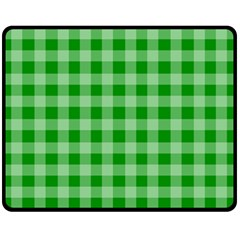 Gingham Background Fabric Texture Double Sided Fleece Blanket (medium)  by Nexatart