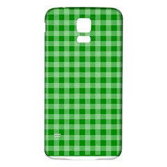 Gingham Background Fabric Texture Samsung Galaxy S5 Back Case (white) by Nexatart
