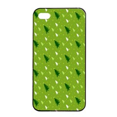 Green Christmas Tree Background Apple Iphone 4/4s Seamless Case (black) by Nexatart
