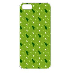 Green Christmas Tree Background Apple Iphone 5 Seamless Case (white) by Nexatart