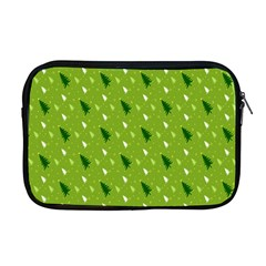 Green Christmas Tree Background Apple Macbook Pro 17  Zipper Case