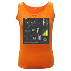 Graphic Table Symbol Vector Chart Women s Dark Tank Top by Nexatart