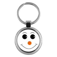 Happy Face With Orange Nose Vector File Key Chains (round)