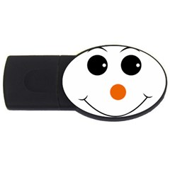 Happy Face With Orange Nose Vector File Usb Flash Drive Oval (4 Gb)