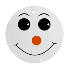 Happy Face With Orange Nose Vector File Round Ornament (two Sides)