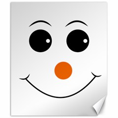 Happy Face With Orange Nose Vector File Canvas 20  X 24