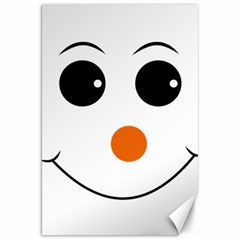 Happy Face With Orange Nose Vector File Canvas 20  X 30
