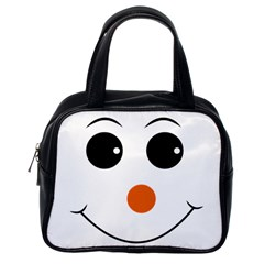 Happy Face With Orange Nose Vector File Classic Handbags (one Side)