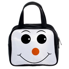 Happy Face With Orange Nose Vector File Classic Handbags (2 Sides)