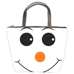 Happy Face With Orange Nose Vector File Bucket Bags by Nexatart