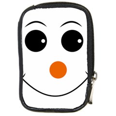 Happy Face With Orange Nose Vector File Compact Camera Cases