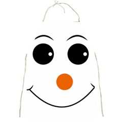 Happy Face With Orange Nose Vector File Full Print Aprons by Nexatart