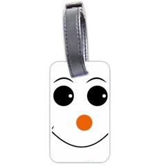 Happy Face With Orange Nose Vector File Luggage Tags (two Sides)