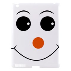 Happy Face With Orange Nose Vector File Apple Ipad 3/4 Hardshell Case (compatible With Smart Cover)