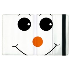 Happy Face With Orange Nose Vector File Apple Ipad 2 Flip Case