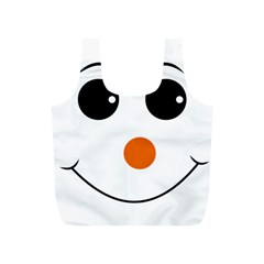 Happy Face With Orange Nose Vector File Full Print Recycle Bags (s)
