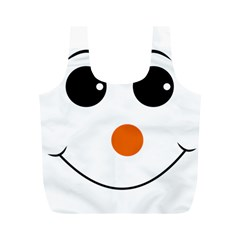 Happy Face With Orange Nose Vector File Full Print Recycle Bags (m)