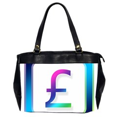 Icon Pound Money Currency Symbols Office Handbags (2 Sides)  by Nexatart